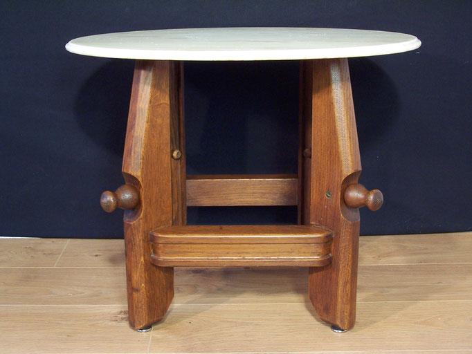 """Table basse plateau marbre """" Guillerme et Chambron """""""