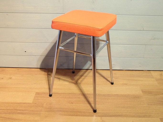 Tabouret orange 1970