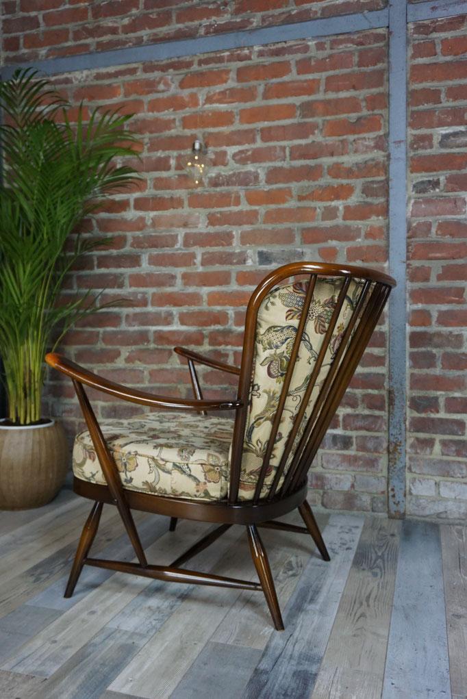 Véritable fauteuil Ercol avec coussins, années 50 - 60