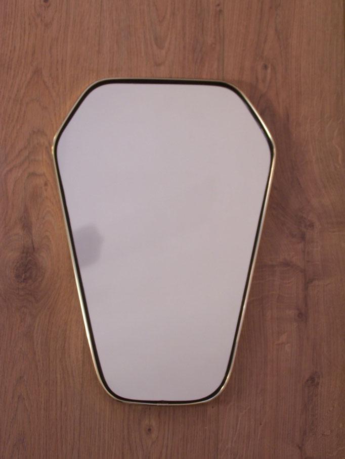 Miroir rétroviseur vintage bord laiton