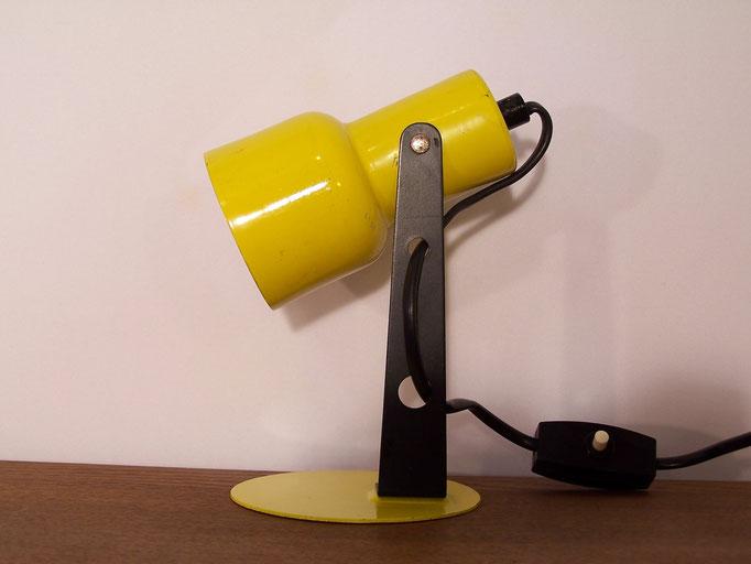 Mini lampe ancienne jaune tout en métal