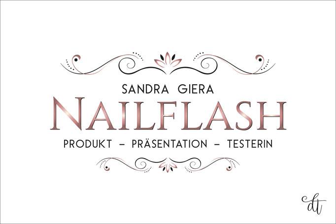 Nailflash - Sandra Giera - 2018: Logodesign