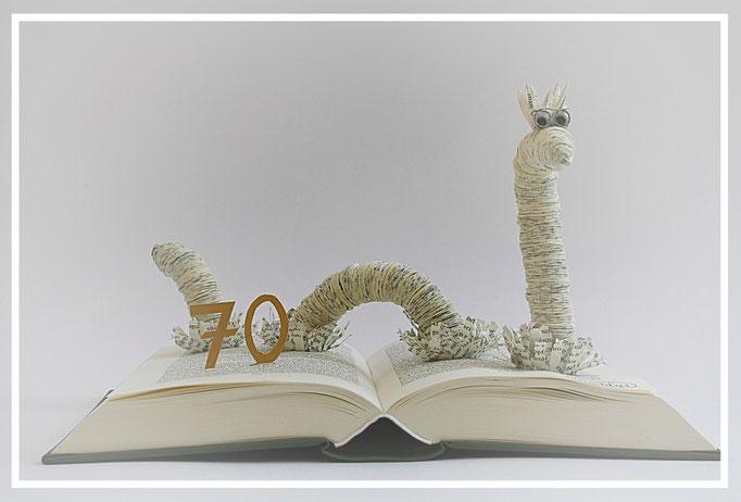 (009) Anfertigung für einen 70. Geburtstag(Körperdurchmesser 1,9cm) für die DOMBUCHHANDLUNG IN MAINZ