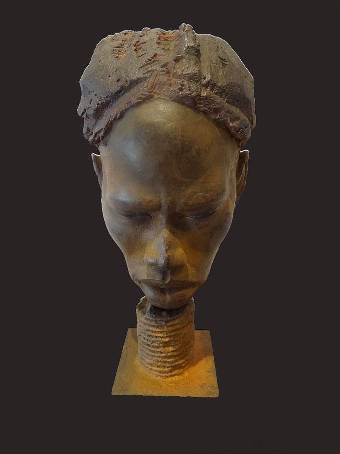 Buste africain - Sculpture plus dispo