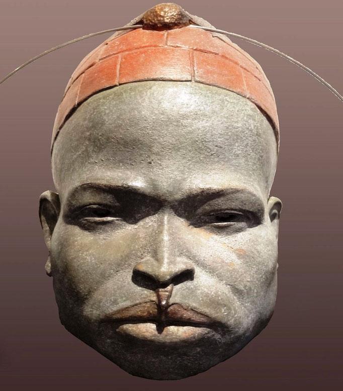 Buste africain - Terre cuite disponible - 17x 13 cm