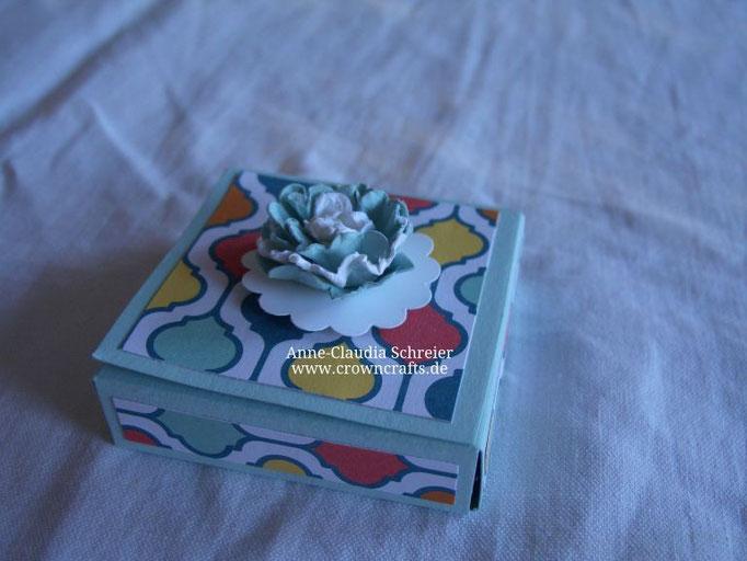 In dieser kleinen Box verbarg sich eine Mini-Ritter-Sport-Tafel... Leider ist kein Name dabei!