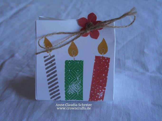 Eine kleine Geschenktüte von Sandra Kempf mit dem tollen Geburtstagsstempelset aus dem neuen Hauptkatalog