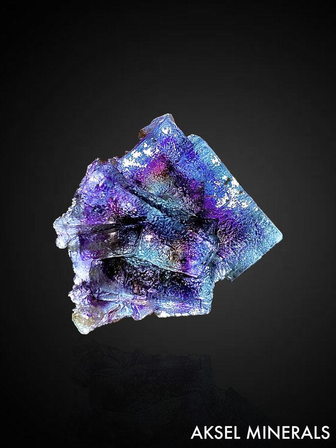 AM846 - Fluorite à fantômes multicolors - Yindu Ag-Pb-Zn deposit, Hexigten Banner, Chifeng City, Inner Mongolia, China - 32x40mm