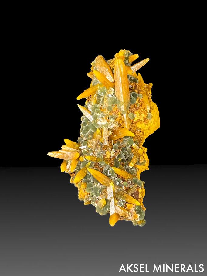 AM683 - Wulfenite sur Mimetite - Ojuela Mine, Mapimi, Durango, Mexique - 55x30mm