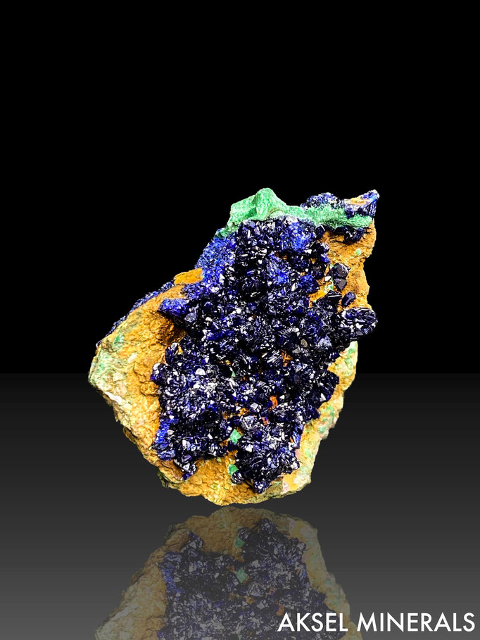AM625 - Azurite et Malachite - Liufengshang Mine, Guichi District, Chizhou, Chine - 40x30
