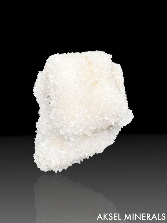 AM652 - Quartz sur Rhodochrosite - Alimon Mine, Huaron Mining District, San Jose de Huayllay District, Cerro de Pasco Province, Pasco Department, Peru - 80x60mm