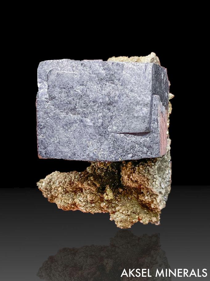 AM660 - Galène et Pyrite sur Calcite - Brushy Creek Mine, Viburnum Trend, Reynolds County, Missouri - 75x45mm