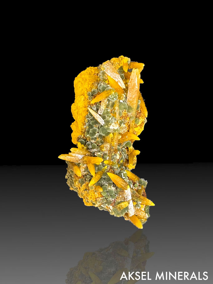 AM683 - Wulfenite sur Mimetite - Ojuela Mine, Mapimi, Durango, Mexique - 55x30mm