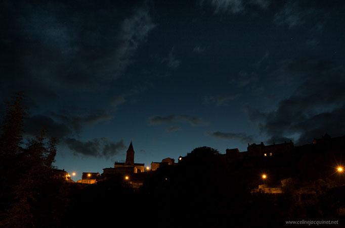 Chateauponsac - vue depuis le panorama de nuit