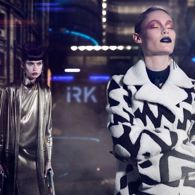 The #0770 Black Leather Collar featured in @irkmagazine Ph @morganmillerphoto & Joey Danger models Anna Miller @akmillerofficial & Kasia Krol @kasiakr0l stylist @thecannonmediagroup @_sennastylez_