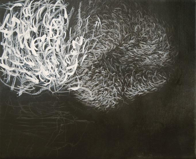 Halbabstraktes Bild I, 2008, Acryl, Kreide auf Leinwand, 40x50cm
