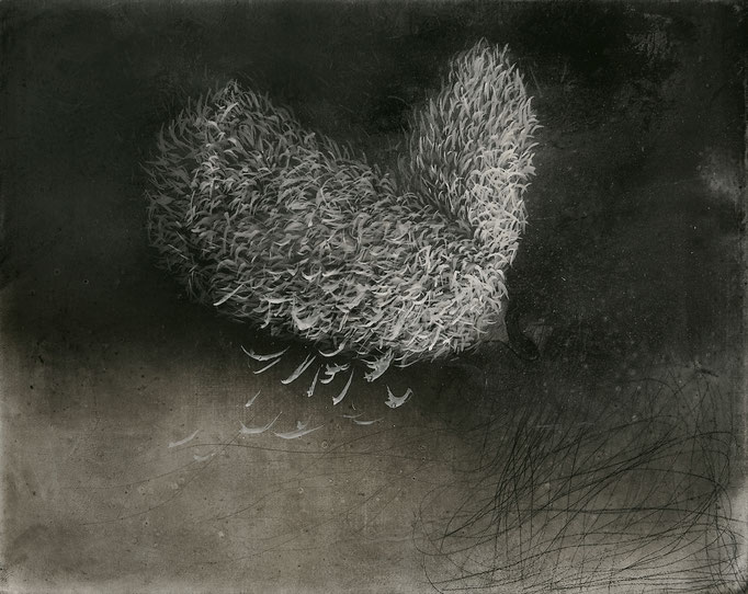 Halbabstraktes Bild IV, 2008, Acryl, Kreide auf Leinwand, 40x50cm
