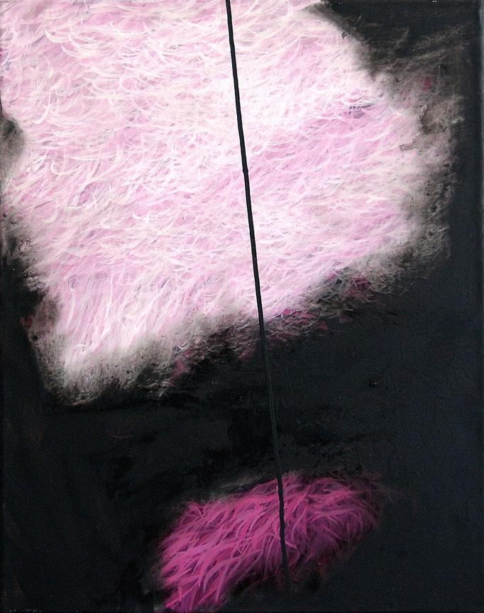 Mikronatur, 2014, Acryl auf Leinwand, 50x40cm (180°variabel)