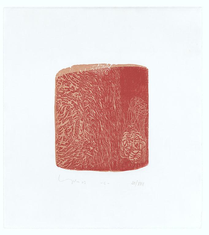 Der elfte Spruch, 2003, Holzschnitt auf Alt Nürnberg, 47x42 cm, Blatt 3, Aufl.22