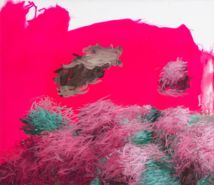 Naturkopie, 2016, Polymerwasserlack, Acryl auf Leinwand, 60x70cm