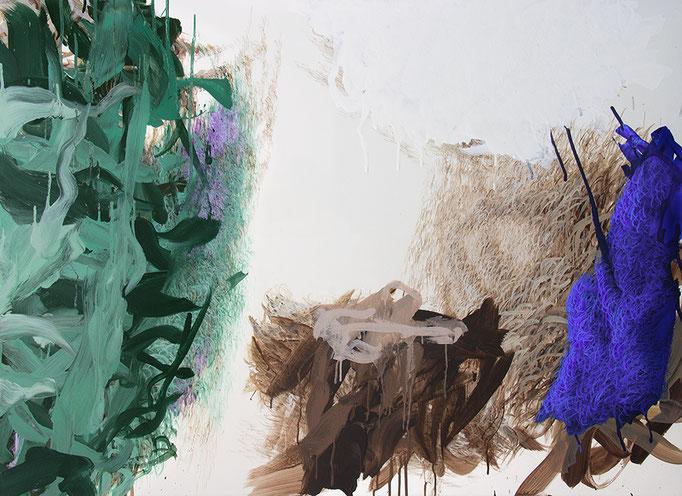 Arkadien, 2016, Polymerwasserlack, Acryl auf Leinwand, 100x135cm