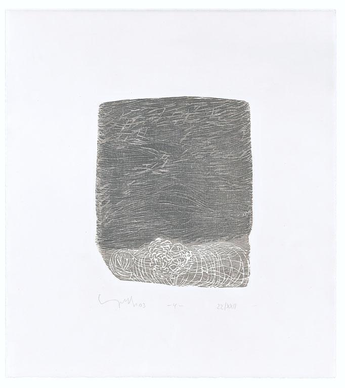 Der elfte Spruch, 2003, Holzschnitt auf Alt Nürnberg, 47x42 cm, Blatt 4, Aufl.22