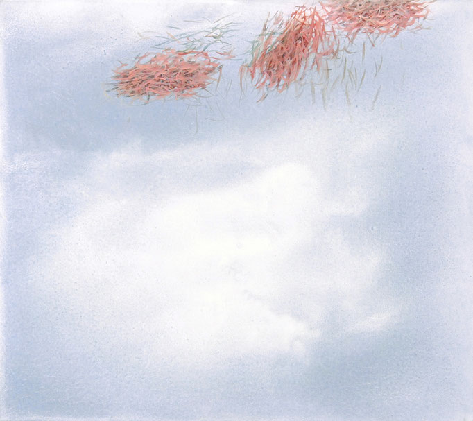 Arkadien, 2009, Acryl auf Leinwand, 80x90cm, (90°/180° variabel)