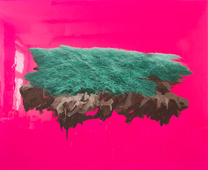 Naturkopie, 2016, Acryl, Polymerwasserlack, Acryl auf Leinwand, 110x135cm