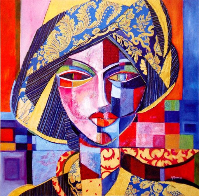 Donna con turbante t.m. 90x90