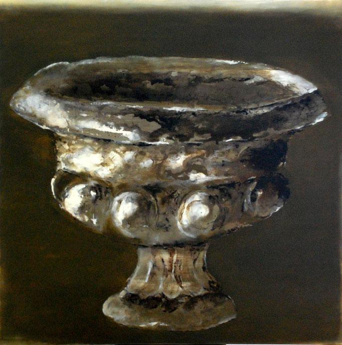 Vase anglais vert-ocre - t.m. - 100x100