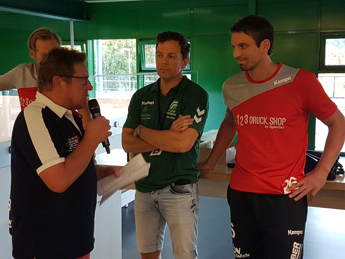 Ex-Handball-Nationalspieler Adrian Pfahl (rechts)