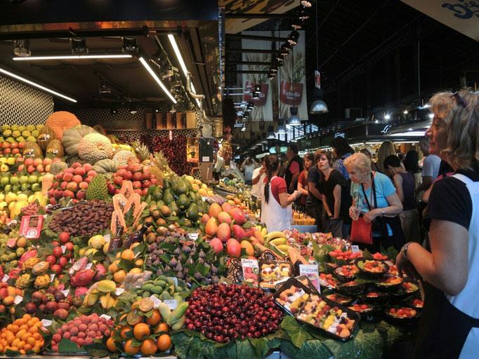 in der  Markthalle von Barcelona