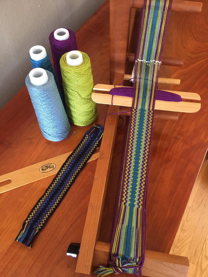 Inkle weaving with 100% perle cotton