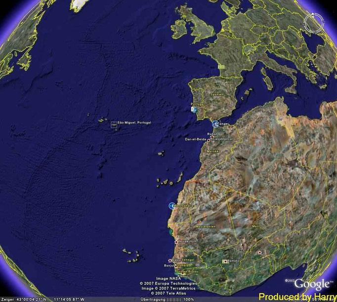 ... da liegen die Azoren