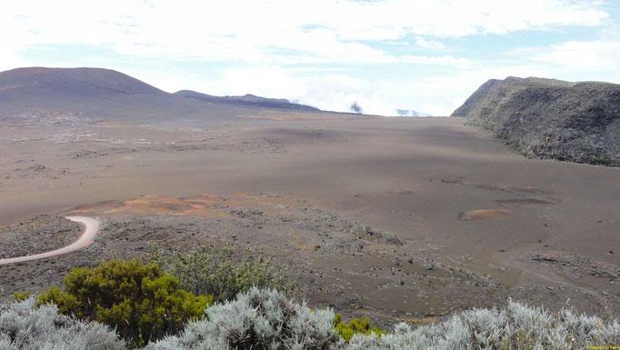 auf dem Weg zum Krater