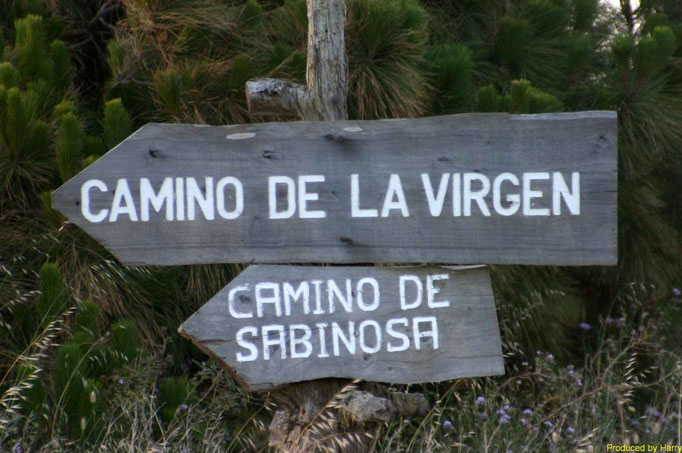 der 28km lange Camino de la Virgen