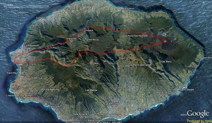 1-stündiger Rundflug über die Insel - siehe Video