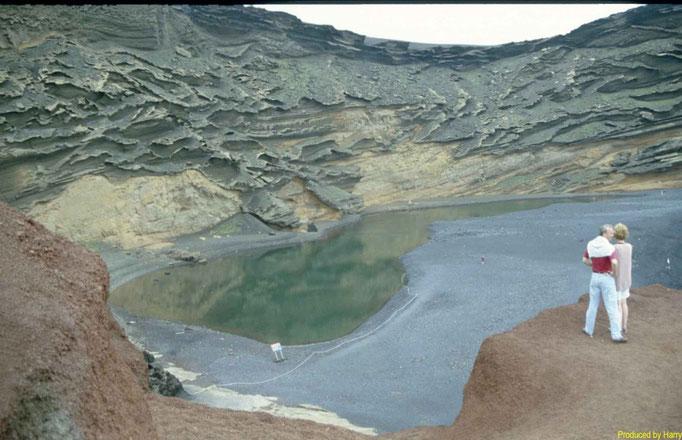 El Golfo   - grünes giftiges Wasser - durch Vulkangase entstanden