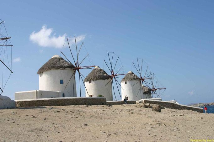 Wahrzeichen von Mykonos Stadt