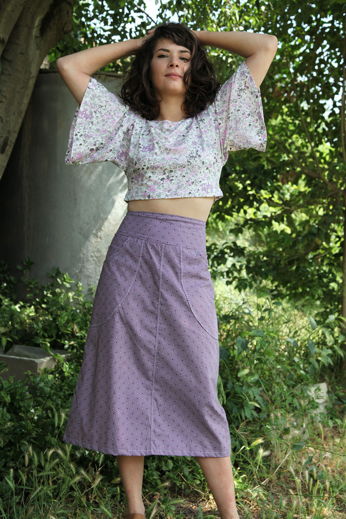 Top Joanna et jupe lilas