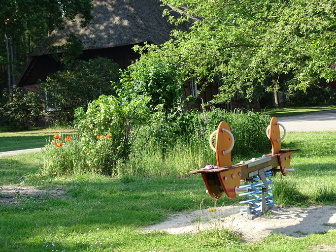 Wippe auf dem Imkershof der Familie Röhrs in Schneverdingen-Surbostel