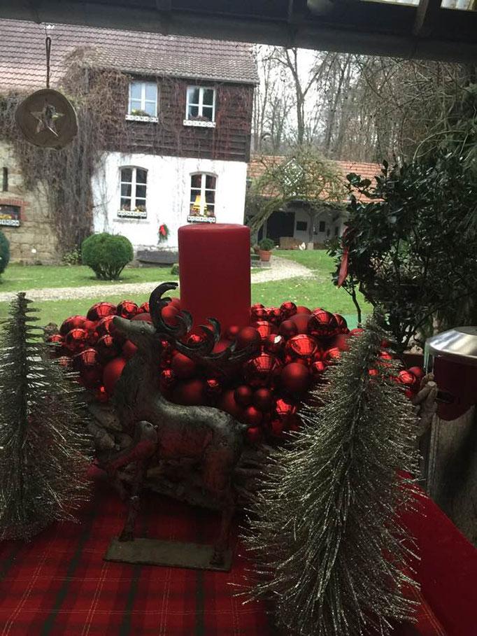 Weihnachtsdeko Altes Forstamt im Teutoburer Wald