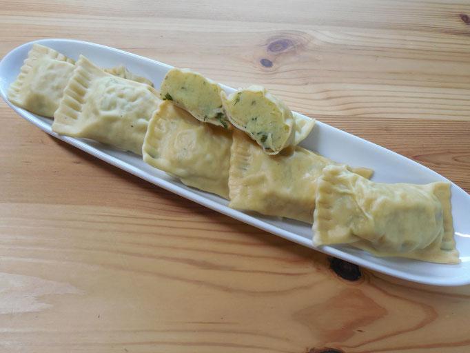 vegetarische Maultaschen (Kartoffel-Minze)