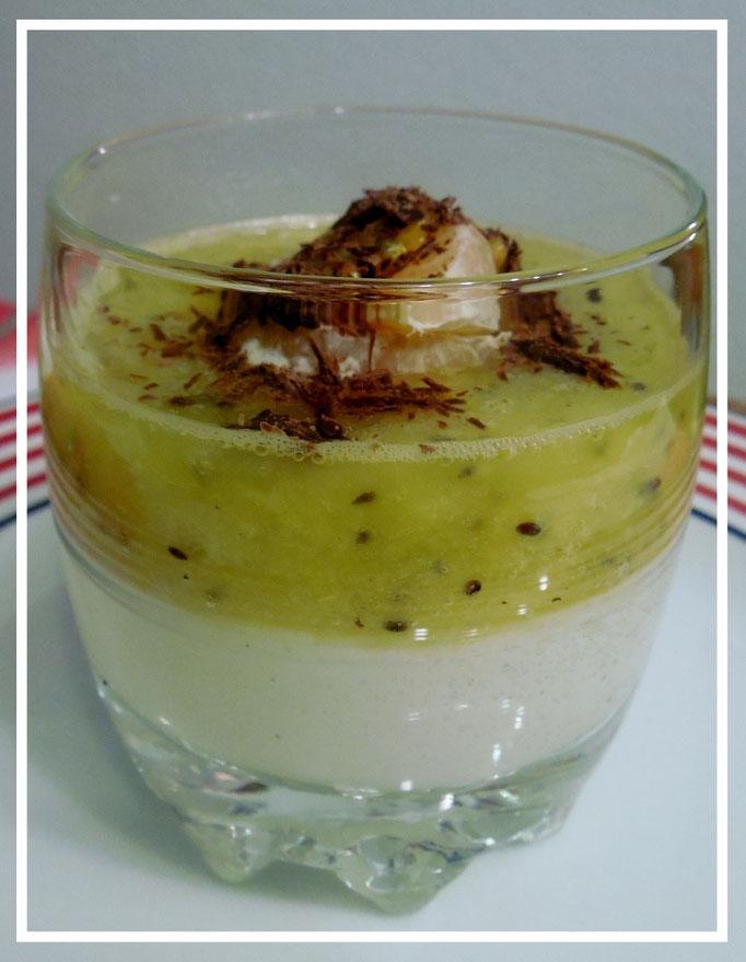 Nachtisch wie z.B. selbstgemachter Vanillepudding