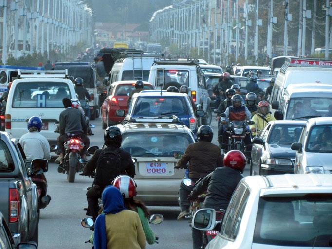 Verkehr in Kathmandu