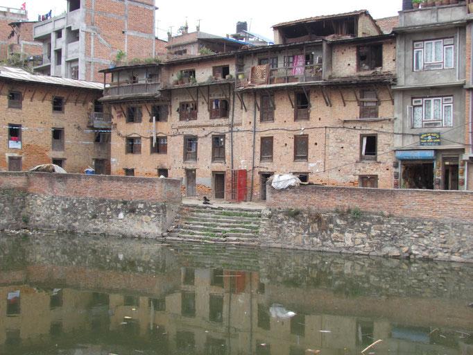 zentraler Platz in Bungamati