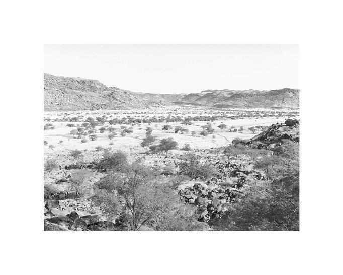 Twyfelfontein Namibia, Editions-Blatt 33x49 / 50x70, Auflage 10