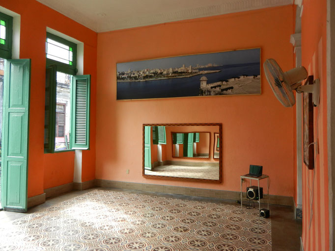 Main room for dance lessons towards window
