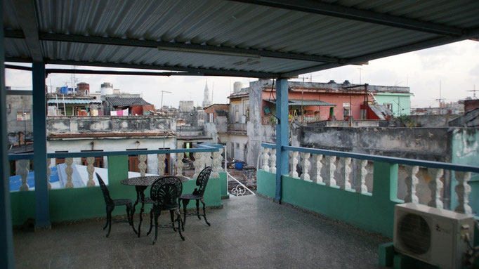 Our terrace on the 3rd floor - a place with a view