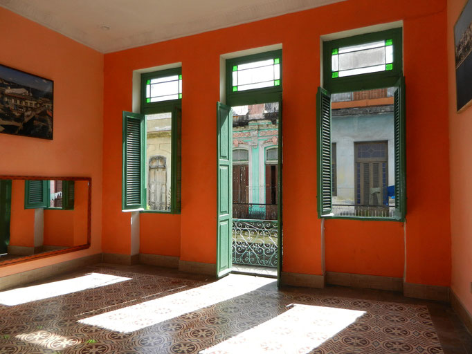 Main room for dance lessons towards balcony